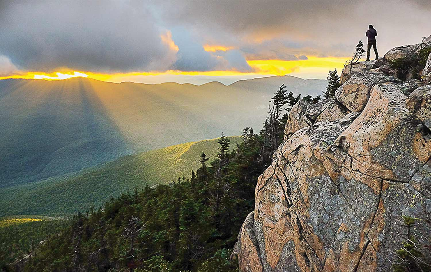 A.T.  - White Mountains National Forest just before Franconia Ridge. By Aaron Ibey