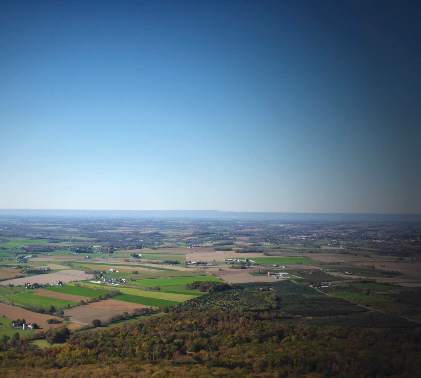 View of the Waynesboro area from High Rock – a spur off of the  A.T.